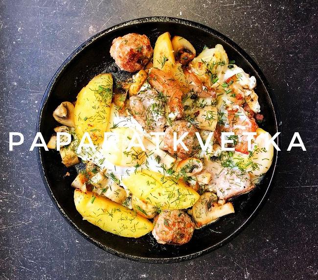 Сковорода с картофелем